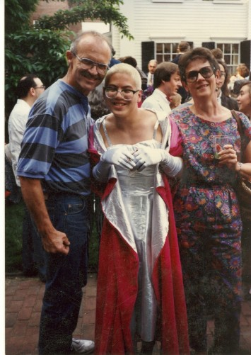 Thomas Lauderdale with his parents at his graduation from Harvard University, where he graduated Cum Laude with a degree in history and literature (photo courtesy of Thomas