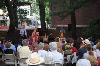 Bria Skonberg performing at Louis Armstrong House in New York City on June 18, 2011 (photo by Louis Armstrong House, Flickr Creative Commons)