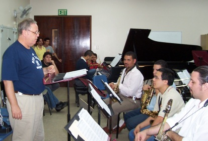 Kenny Werner in the classroom