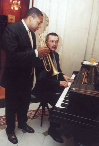 Wynton Marsalis with Emil Viklický in 2000