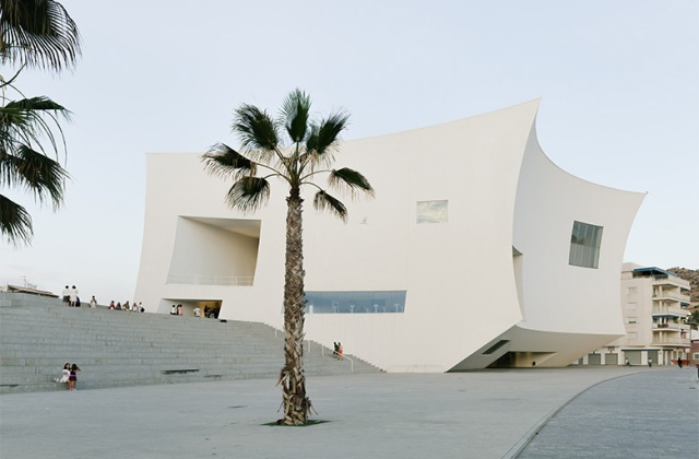 Exterior of the auditorium and congress center in Águilas, Spain designed by Barozzi/Veiga and completed in 2011 (photo courtesy of B/V)
