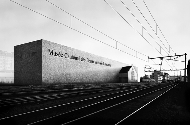 Architectural rendering of a design by Barozzi/Veiga for the Cantonal Museum in Lausanne, Switzerland (photo courtesy of B/V)
