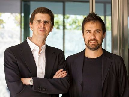 Alberto Veiga (L) and Fabrizio Barozzi (R), founders of the award-winning architecture firm Barozzi/Veiga (photo courtesy of B/V)