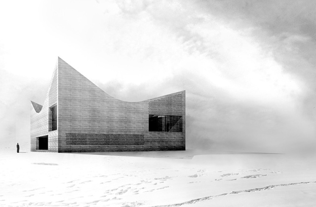 Commissioned private residence in Ordos, China (2008) designed by Barozzi/Veiga (photo courtesy of B/V)