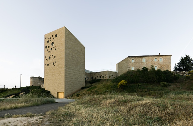 Headquarters of the Regulatory Council for the D.O. Ribera del Duero in Roa, Spain, designed by Barozzi/Veiga and completed in 2011 (photo courtesy of B/V)