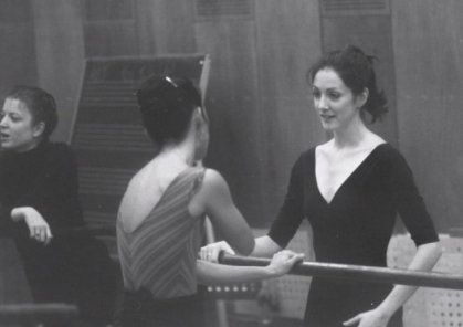 Cynthia Harvey in a ballet studio at American Ballet Theatre (photo by Paul B. Goode)
