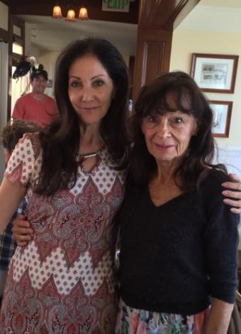 Cynthia Harvey with her childhood ballet teacher, Christine Walton (photo courtesy of Cynthia Harvey)