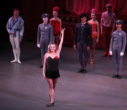 Dancer Sara Mearns in the New York City Ballet production of Slaughter on Tenth Avenue on October 2, 2015 (photo by Kent G Becker, Flickr Creative Commons)