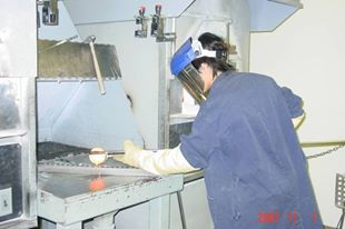 Benjamin Von Wong at a workbench in his previous career as a mining engineer (photo courtesy of Benjamin Von Wong)