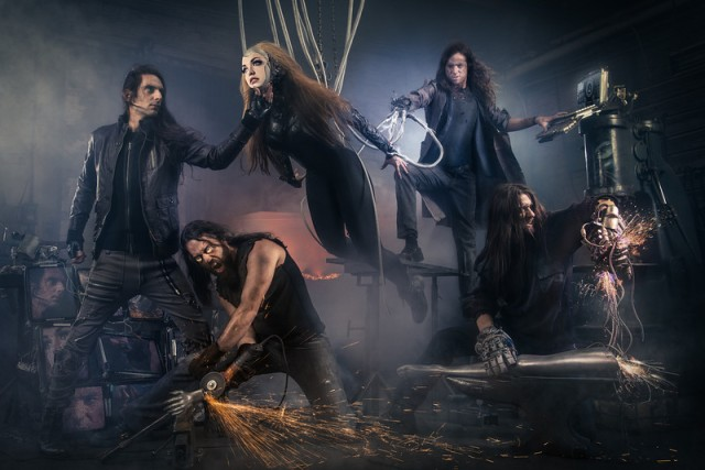 """2014 promo shot for the Montreal metal band """"The Agonist"""" by Benjamin Von Wong (photo courtesy of Benjamin Von Wong)"""