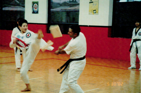 Benjamin as a young man doing Taekwondo (photo courtesy of Benjamin Von Wong)