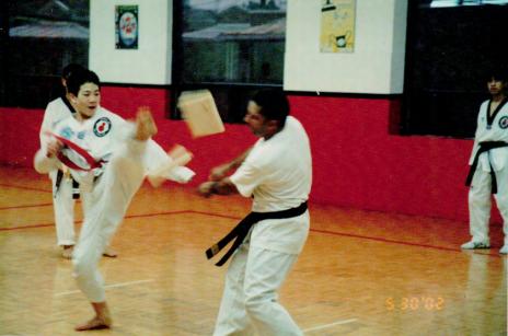 Benjamin as a young man doing Taekwondo (photo courtesy of Benjamin Von Wong)