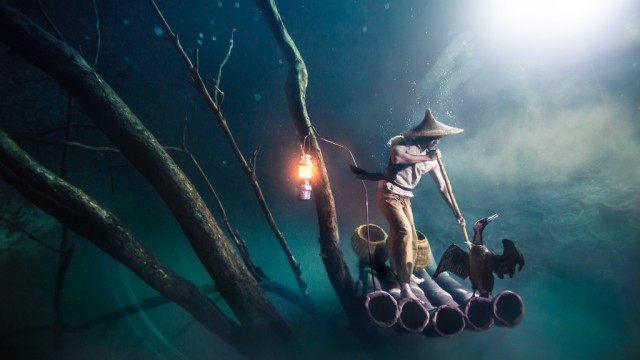 """Cormorant Fisherman,"" done in partnership with Ballantine's Whiskey, by Benjamin Von Wong (photo courtesy of Benjamin Von Wong)"