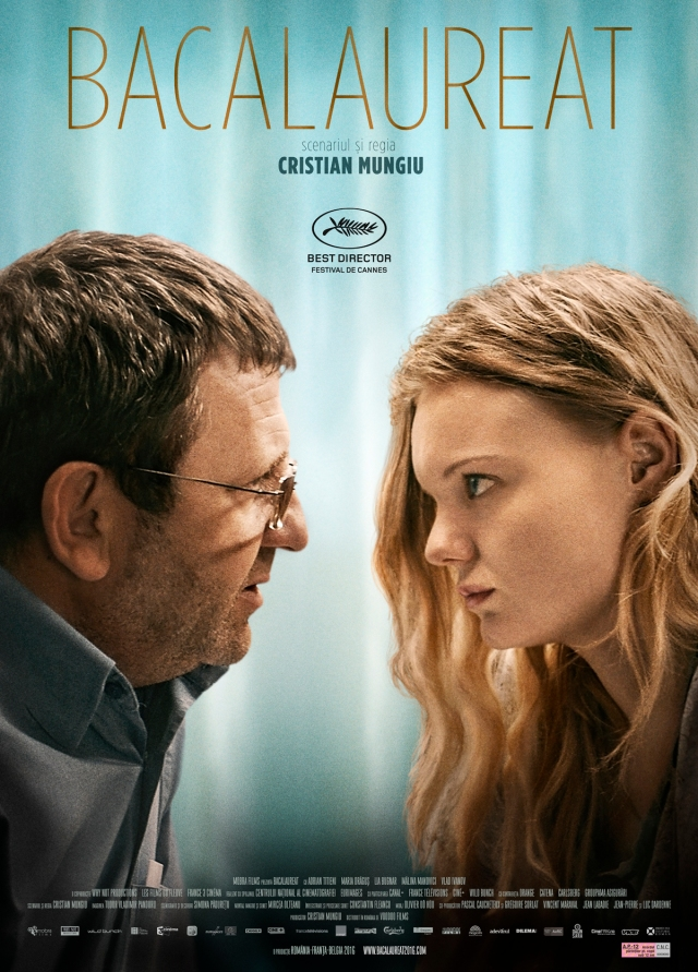 Poster for Cristian Mungiu's film Bacalaureat (Graduation), which shared Best Director prize at the 2016 Cannes Film Festival