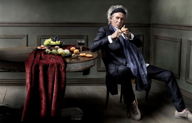 Rolling Stones guitarist Keith Richards photographed by Seliger in 2011 for British GQ magazine (photo ©Mark Seliger)