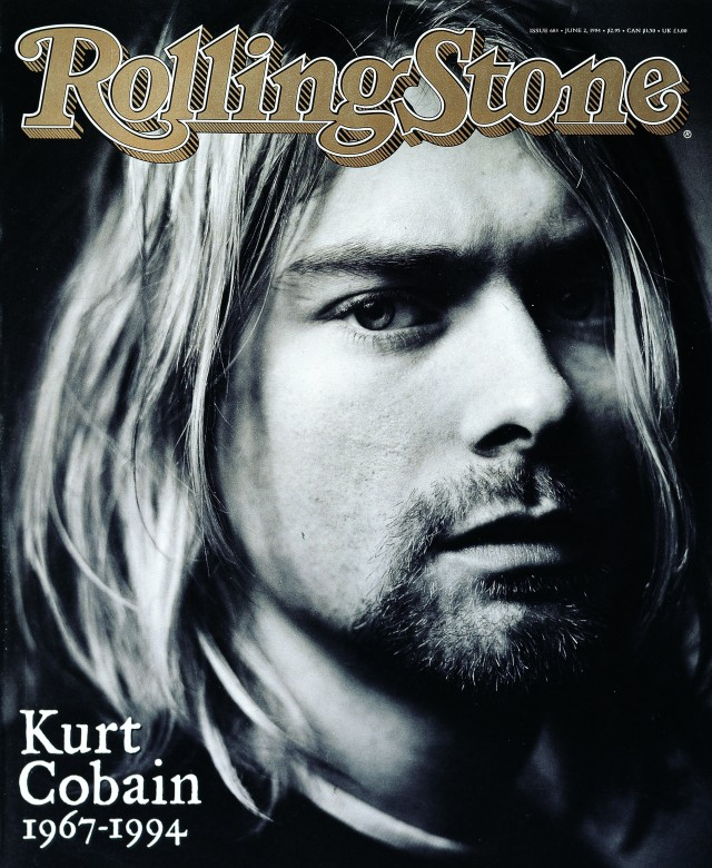 Musician Kurt Cobain was photographed by Seliger and featured on the cover of Rolling Stone magazine in a special memorial issue following Cobain's death on April 5, 1994 (photo ©Mark Seliger)