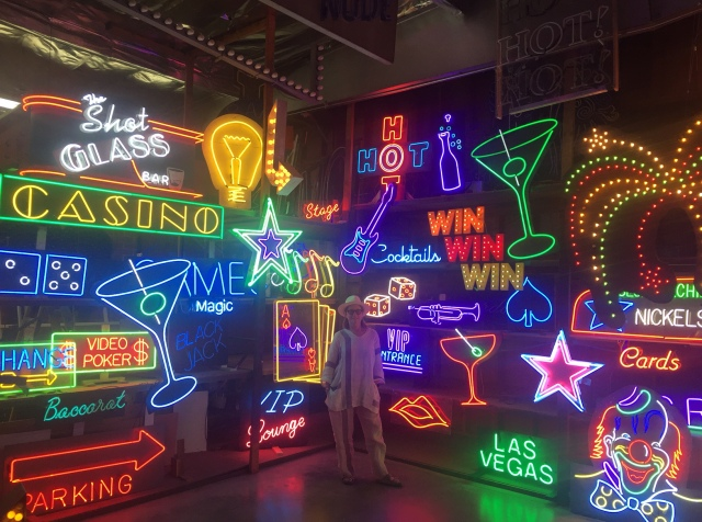 Lisa Schulte in a section of the 17,000 square foot showroom of her company Nights of Neon (photo courtesy of Lisa Schulte)