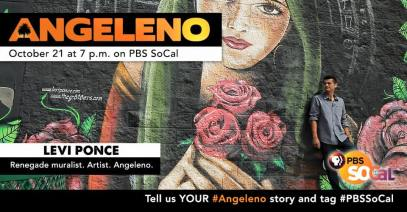 Ad for a 2015 PBS SoCal documentary on Los Angeles artists featuring Levi Ponce and Peter Shire