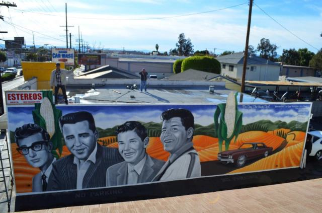 "Ponce's ""The Day The Music Died"" (November 2012) featuring Buddy Holly, The Big Bopper, Roger Peterson and Ritchie Valens (photo by Javier Martinez)"