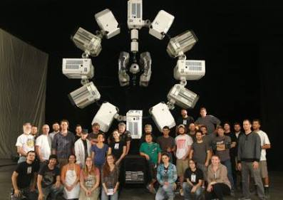 "Ponce at New Deal Studios with other members of the miniature effects crew for ""Interstellar,"" which won an Oscar for Best Visual Effects in 2015"