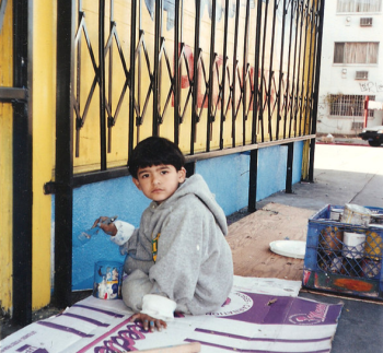 Levi Ponce as a child (photo by Hector Ponce)