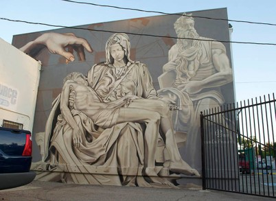"Ponce's ""Tribute to Michelangelo,"" painted in August 2013 (photo by Levi Ponce)"