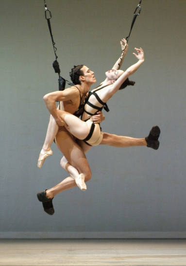 "James Viveiros and Kirsten Andersen in Chouinard's 2005 work ""bODY_rEMIX / gOLDBERG_vARIATIONS"" (photo by Marie Chouinard)"