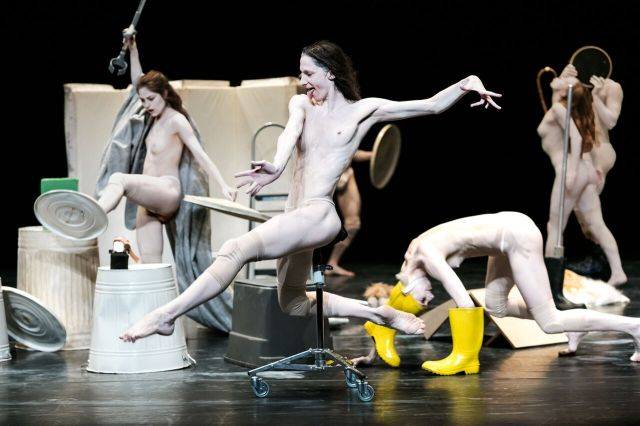 "Paige Culley, Valeria Galluccio, Morgane Le Tiec and Megan Walbaum in Chouinard's ""Hieronymus Bosch: The Garden of Earthly Delights"" (photo by Nicolas Ruel)"