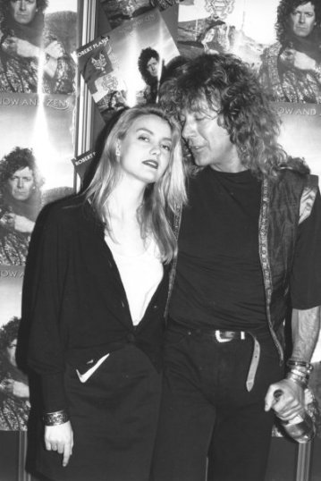 "Sass Jordan posing with Robert Plant during his 1988 ""Now and Zen"" tour (photo courtesy of Sass Jordan)"