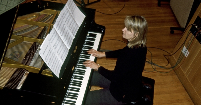 "Anne Dudley recording her album ""A Different Light,"" which was released in 2001 (photo courtesy of Anne Dudley)"