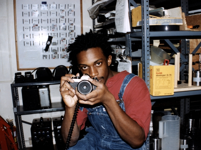 Hank Willis Thomas in 1997 while pursuing photography at New York University (photo courtesy of Hank Willis Thomas)
