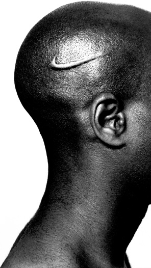 """Branded Head"" (2003) by Hank Willis Thomas (photo courtesy of Hank Willis Thomas and Jack Shainman Gallery)"