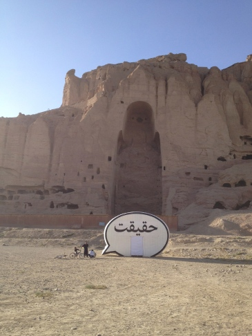 The Truth Booth in Bamiyan, Afghanistan in 2013 (photo by Jim Ricks courtesy of Hank Willis Thomas and the Cause Collective)