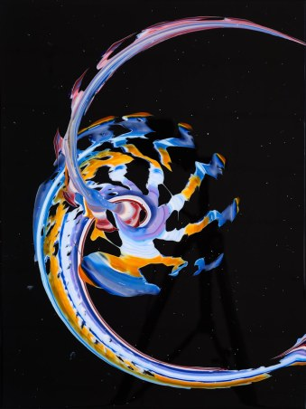 A spin painting by Callen Schaub (photo by Collateral Photography - Spencer Robertson)