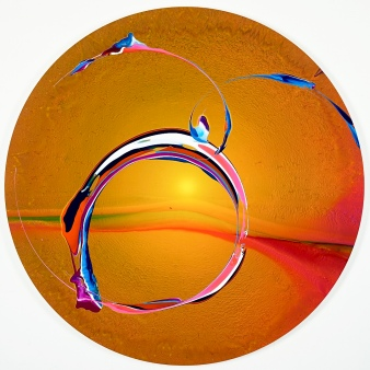 A circular spin painting by Callen Schaub (photo by Collateral Photography - Spencer Robertson)