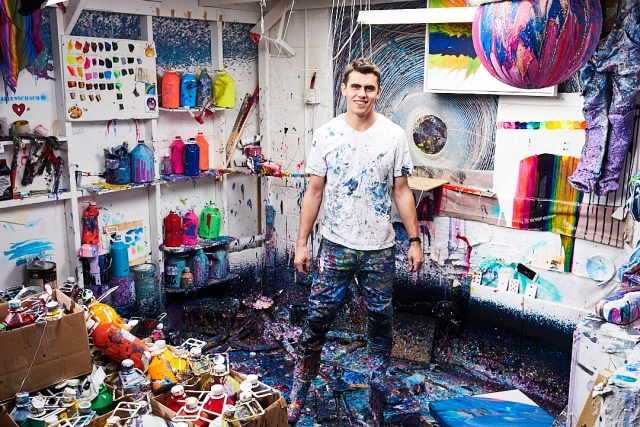 Callen Schaub in his studio (photo by Collateral Photography - Spencer Robertson)