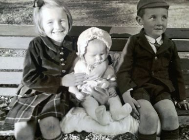Fred Penner as a child with two of his siblings (photo courtesy of Fred Penner)