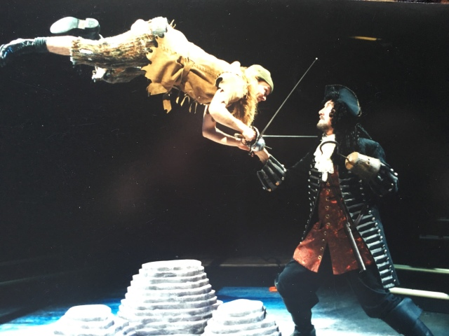 Penner (R) in a 2006 production of Peter Pan by the Manitoba Theatre for Young People (photo courtesy of Fred Penner)