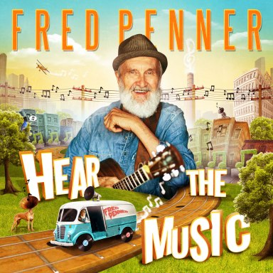 "The cover of Penner's 2017 CD, ""Hear the Music,"" which won a 2018 Juno Award for Children's Album of the Year"