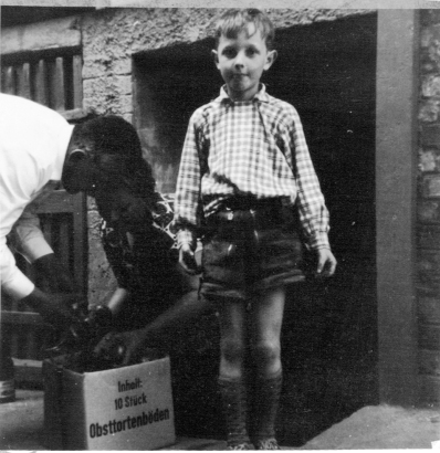 Hans Hemmert at the age of 6 in Bavaria (photo courtesy of Hans Hemmert)