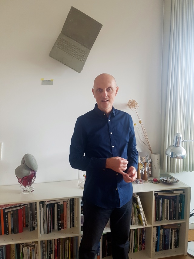 German conceptual artist Hans Hemmert at his home in Berlin on Sept. 7, 2018 (photo by Anita Malhotra)