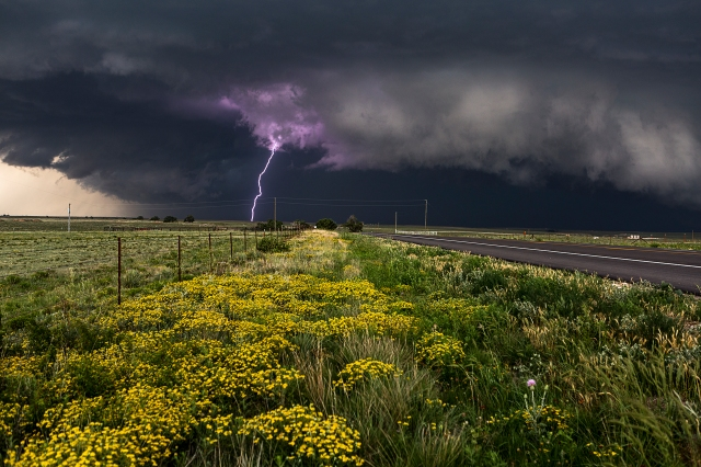 The Big Cloud Series IV: Purple Lightning, Canadian TX, June 22, 2014 (photo © Camille Seaman)