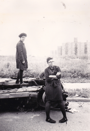 Camille Seaman (L) as a young woman with a friend (photo courtesy of Camille Seaman)