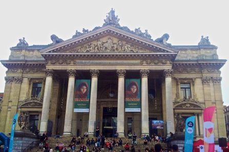 Expo The World of Steve McCurry at Palais de la Bourse of Brussels (photo by Sabr68, Wikimedia Commons, May 6, 2017)