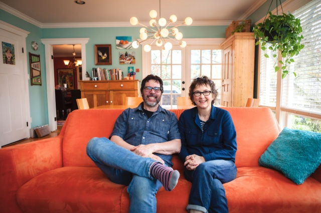 David Fine and Alison Snowden at their Vancouver home (photo © Chad Galloway)