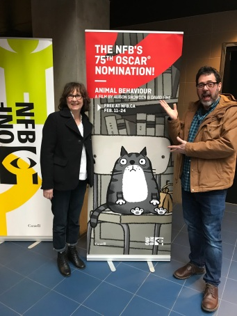 Alison Snowden and David Fine at the National Film Board studio in Vancouver (photo by Katja De Bock)