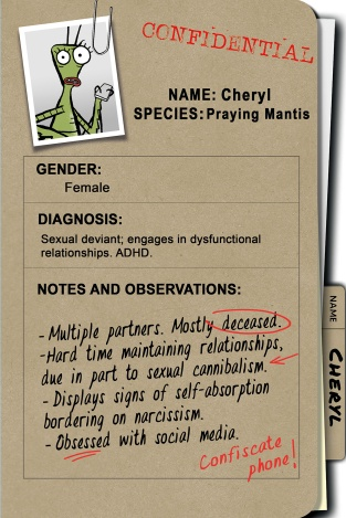 Cheryl's confidential patient file (photo courtesy of the National Film Board of Canada)