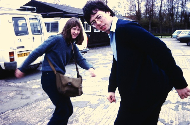Alison Snowden and David Fine in the early '80s when they were both students at England's National Film and Television School (photo by Nick Park, courtesy of David Fine)