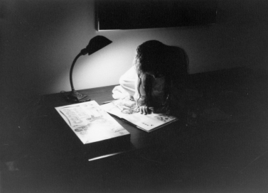 Sandra Beasley showing an early love of reading (photo courtesy of Sandra Beasley)