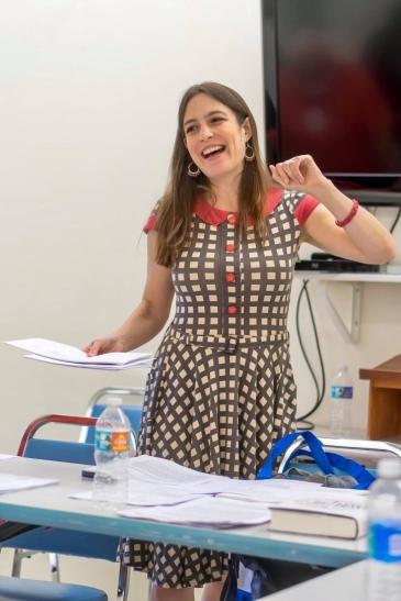 Beasley teaching at the 2016 Sanibel Island Writers Conference (photo courtesy of Sandra Beasley)